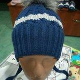 Зимняя теплая шапка на флисе шапочка на завязках