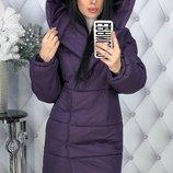Теплый зимний пуховик пальто куртка плотная плащевка канада на синтепоне скл.1 арт.47705