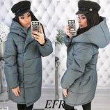 Теплый зимний пуховик пальто куртка плотная плащевка канада на синтепоне скл.1 арт.47704