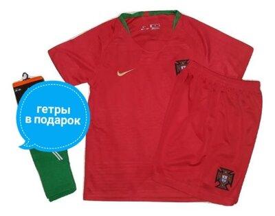 Детская футбольная форма сборной Португалии 2018 Рональдо гетры детские