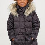 Пуховая куртка пуховик H&M PREMIUM QUALITY Черная Размер 134 на 8-9 лет