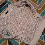 Крутой белый свитерок от Next на 3 года, 98 см