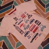 Крутая белая футболочка от TU на 1-1.5 года, 80-86 см