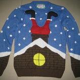 Новогодний свитер.кофта размер S 44-48 р-р