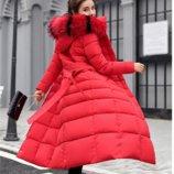 Куртка парка удлиненная, теплая, красивый мех. Топ продаж зима