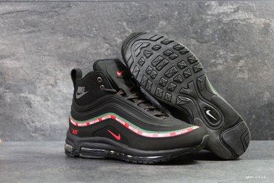Зимние высокие кроссовки Nike 97 black нубук