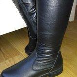 Кожаные зимние сапоги европейка. Натуральная кожа 39 размер