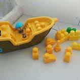 Mega Bloks мега блокс конструктор корабль, озвучен