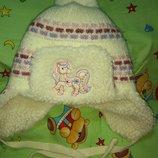 Зимняя теплая шапка на девочку