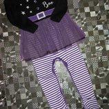 Нарядный человечек слип, костюм Хэллоуин с фатиновой юбкой юбка пачка F&F 12-18мес