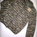 Куртка Recycled Испания демисезон/зима L -3 XL зелёная камуфляж