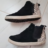 Ботинки Next, натуральная замша 34 размер 2 , стелька 22 см