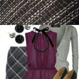 Тёплая юбка трапеция на подкладке H&M