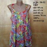 Обворожительная воздушная блуза майка сладкая в принт монпасье р 16 / 50-52 F&F
