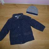 Стеганая курточка от Некст шапочка в подарок