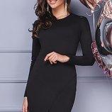 Платье гипюр, трикотаж, 48 50