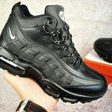 Мужские зимние кроссовки с мехом Nike air max 95