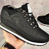 Ботинки зимние нубук New Balance 754 black
