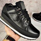 Ботинки зимние кожа New Balance 754 black