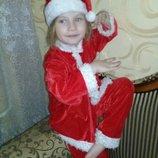 Карнавальный костюм Санта Клаус на 5-6лет.