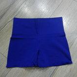 L/48 Hema Синие бесшовные корректирующие шортики c завышенной талией,трусы утяжка