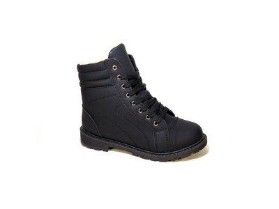Ботинки женские зимние, черные, на шнуровке и молнии. Размер 35-40.