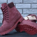 Зимние ботинки Timberland Nubuck, женские ботинки с натуральным мехом