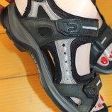 36 разм. Ecco Фирменные сандалии. Кожа Длина по внутренней стельке 23 см., ширина подошвы - 9,5 с