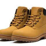 Зимние ботинки на меху Timberland Premium Boot, рыжий, код kv-30731