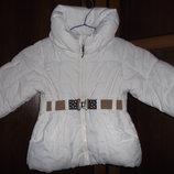 Куртка белая для девочки