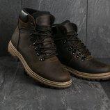 Зимние кожанные ботинки Columb1a brown