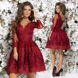 Роскошное платье сетка рукав, Размер 42,44,46