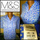 Рубашка -блузка oт marks & spencer, р.16