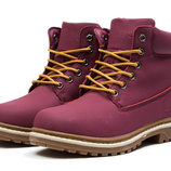 Зимние ботинки на меху Timberland Premium Boot, код kv-30732