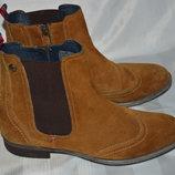 Ботинки челси черевики замш tommy hilfiger розмір 40 41, челсі ботінки