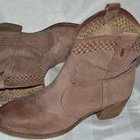 Ботинки ботильони кожа Tamaris размер 41 42, ботінки шкіра