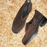Ботинки. туфли замшевые зимние на меху