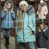 44-54 Зимняя куртка с капюшоном. женский пуховик. Теплая куртка. Пуховик с мехом, парка женская