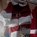 новогодний костюм санты для вашего малыша 3/1-рост 86,92,98