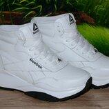 Ботинки кроссовки женские кожа М48Чб Reebok размер 35 36 37 38 39 40 41
