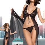Miorre BabyDoll Комплект Прозрачная Сорочка И Трусики-Стринги