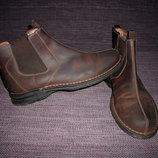 Ботинки полуботинки Clarks,нубук,29,5 см
