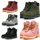 Зимние ботинки на меху Timberland 6 Premium Boot, код kv-30664
