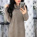 Теплое платье гольф ткань ангора арктика скл.1 арт.47827