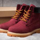 Зимние ботинки на меху Timberland 6 Premium Boot, бордовые 30665