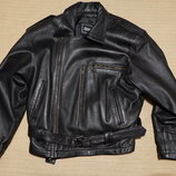 Очень мягкая короткая черная кожаная куртка - косуха Chicago M.