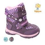 Сноубутсы Том.м арт.3943-C, purple Зимние ботинки для девочек.