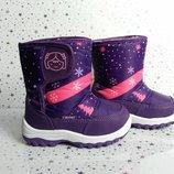 Зимние сапоги-дутики для девочки Libang фиолетовые 22-26р