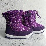 Зимние сапоги-дутики для девочки Тм Libang 22-26р фиолетовые