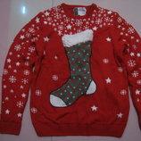 Новогодний свитер.кофта размер М 48-50 р-р